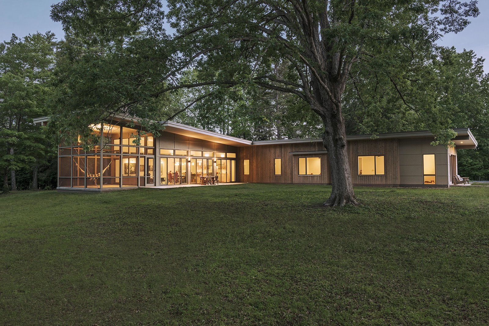 Tagged: Outdoor, Side Yard, and Trees.  The Hammock House by Samsel Architects