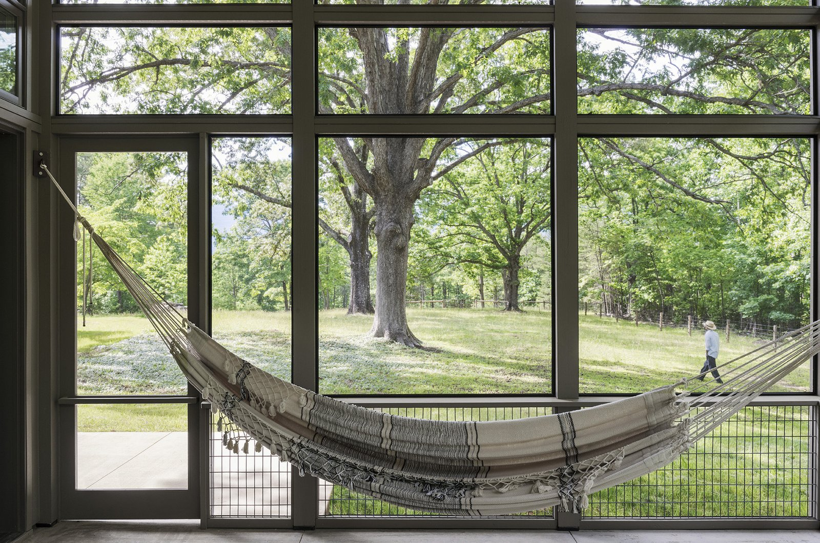 Tagged: Outdoor, Large Patio, Porch, Deck, Trees, and Side Yard.  The Hammock House by Samsel Architects