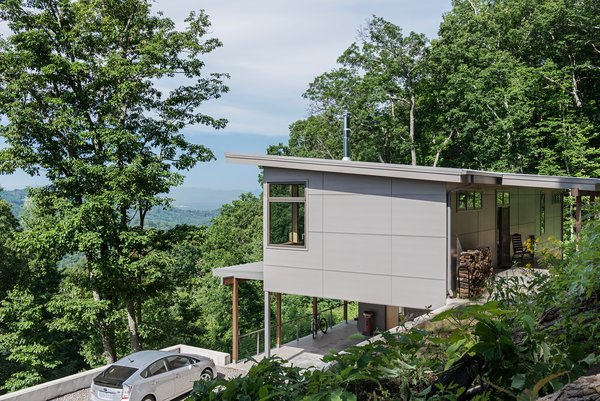 The home looks out over a valley in Western North Carolina.