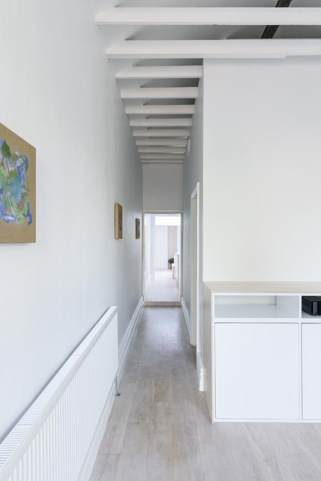 Corridor (Day) Tagged: Hallway and Light Hardwood Floor.  Curtain Cottage by Otto Henkell