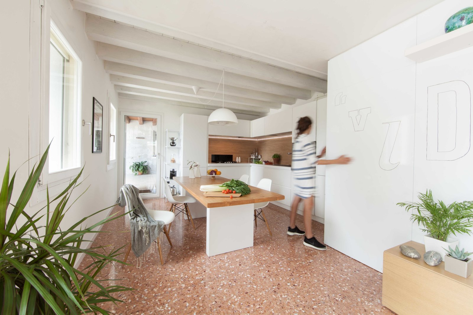 kitchen Tagged: Kitchen, Pendant Lighting, and Marble Floor.  House PB by Didonè Comacchio