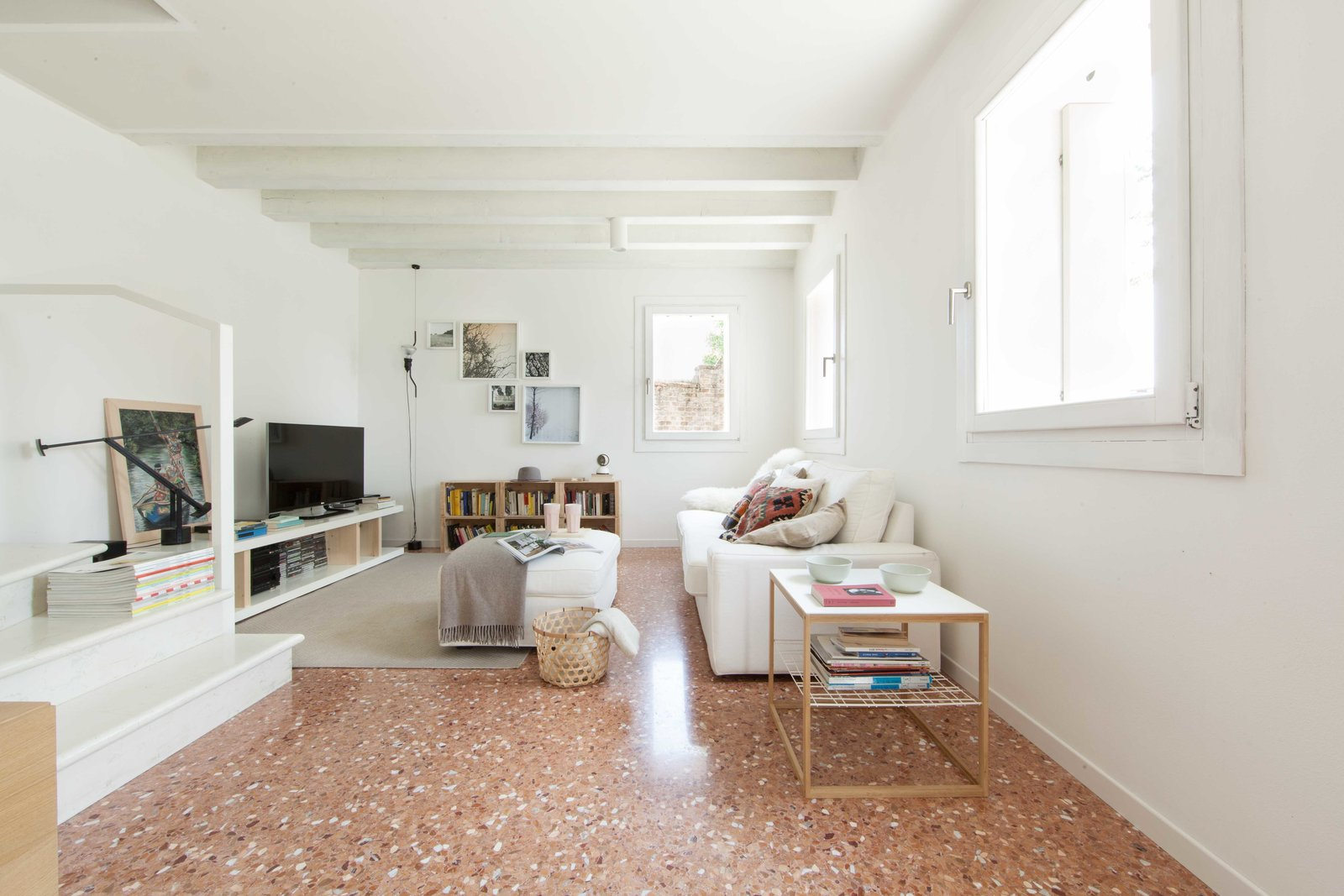 living room Tagged: Living Room and Marble Floor.  House PB by Didonè Comacchio