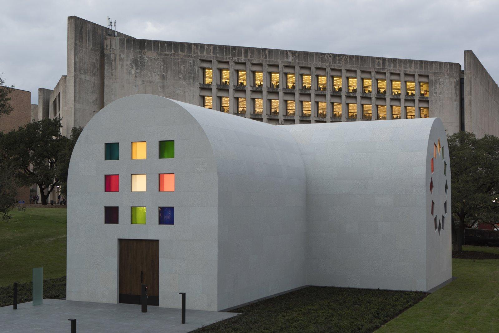 The west façade off Ellsworth Kelly's