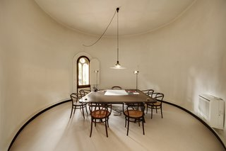 A Spanish Architect Converts a Cement Factory Into a Breathtaking Home and Headquarters - Photo 6 of 12 - The silos house four levels of offices with Bofill's office on the first floor.