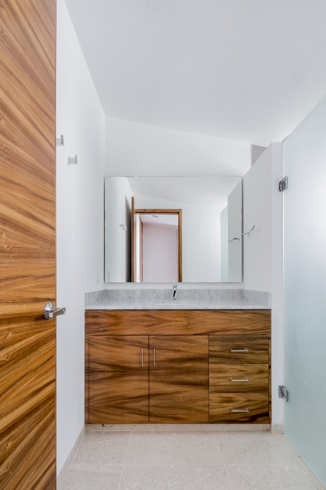 Tagged: Bath Room, Marble Floor, Marble Counter, and Ceiling Lighting.  CASA VALLE by Sergio Villalobos