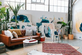 "This Three-Level Loft in San Francisco Is an Artist's Sanctuary - Photo 1 of 9 - ""We both love the Dogpatch for many reasons. It's the right amount of balance, being a little removed from the bustle of San Francisco, and there's a great sense of community among the eclectic inhabitants. It feels like an island within a city."""