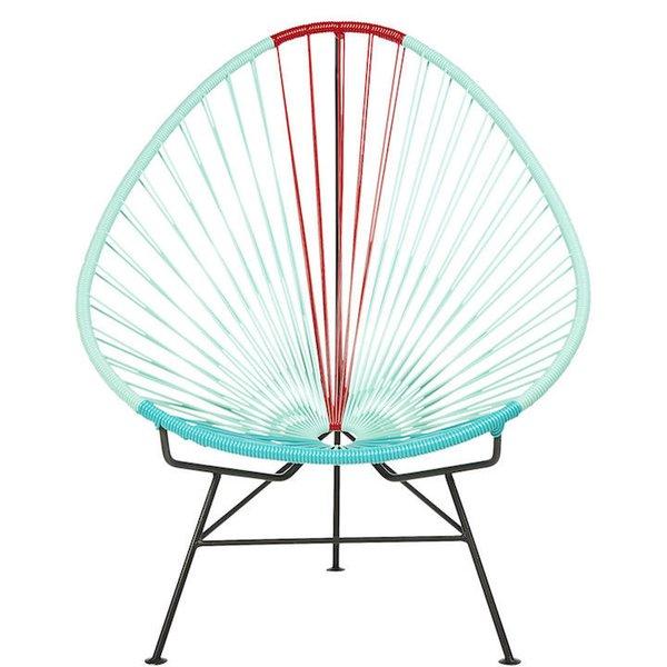 CB2 Acapulco Aqua-Red Egg Outdoor Chair
