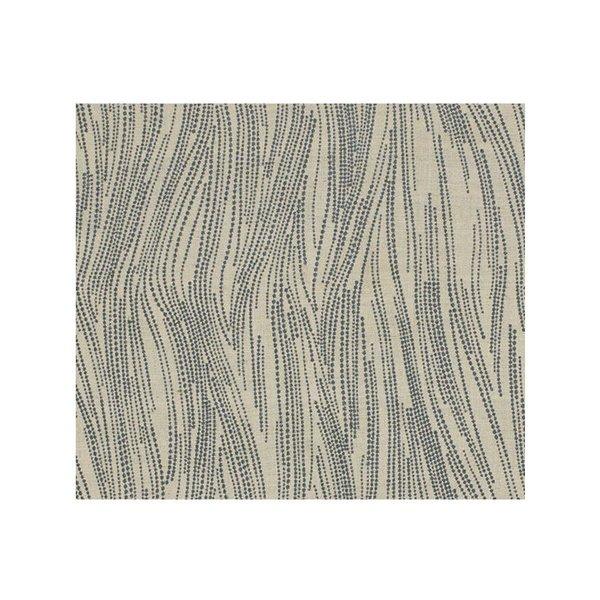 Lee Jofa Currents Silk Drapery in Slate/Oatmeal