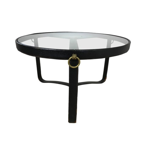 Vintage Jacques Adnet Coffee Table