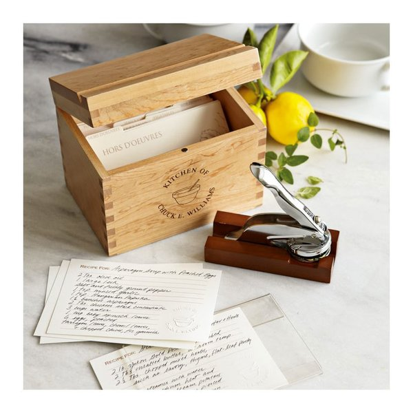 Personalized Recipe Gift Set with Embosser