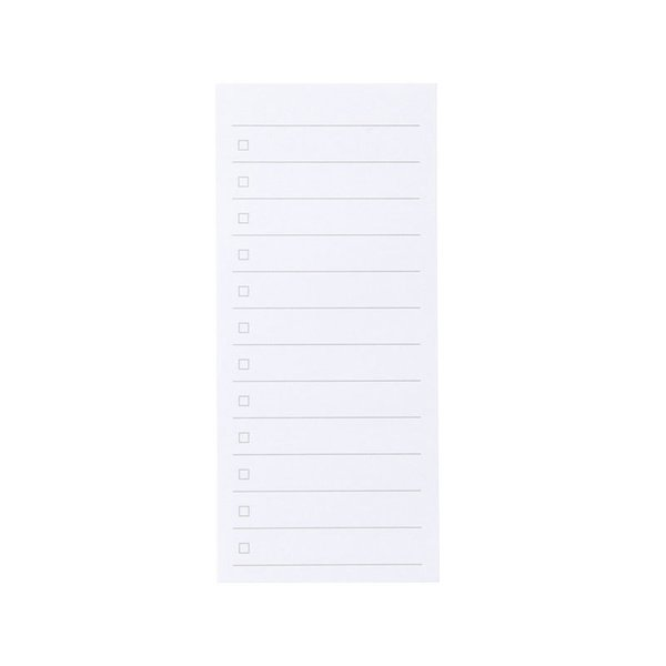 MUJI Checklist Sticky Notes 45 Sheets