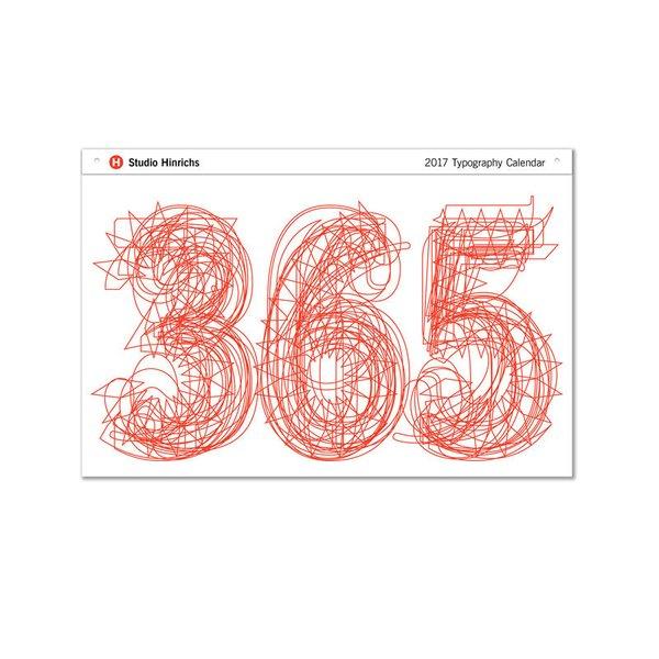 365 Studio Hinrichs Typography Calendar