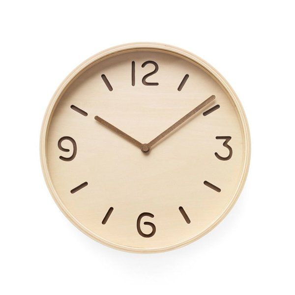 MoMA Bi-Color Plywood Clock