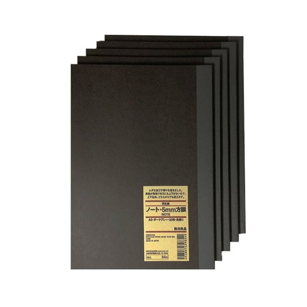 MUJI A5 Grid Notebook (Set of 5)