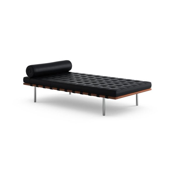 Knoll Barcelona Couch with Straps in Matching Leather