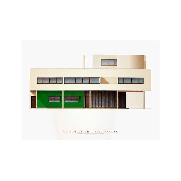 Villa Savoye, Nord-Est. by Le Corbusier