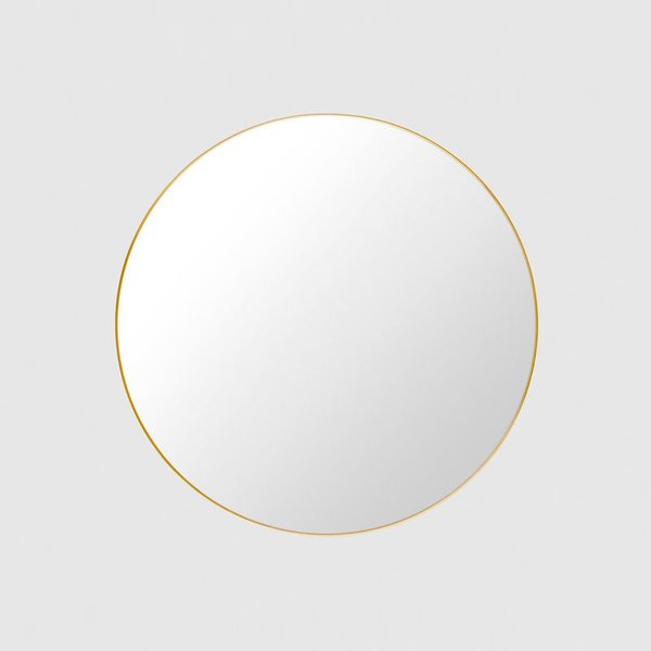 Gubi Wall Mirror, Polished Brass