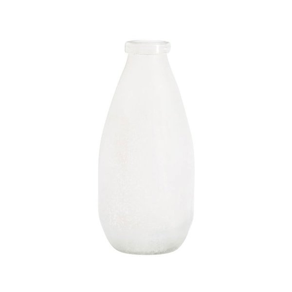 Seaglass Vase - Medium White