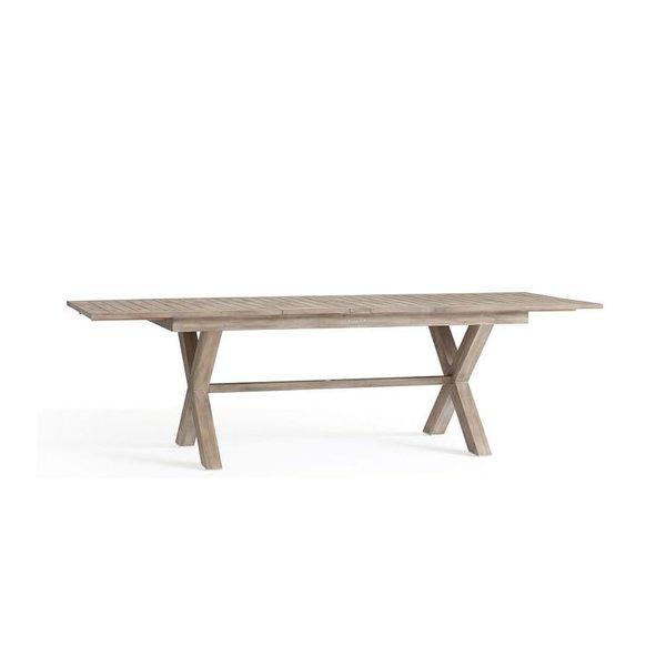 Pottery Barn Indio X-Base Extending Table