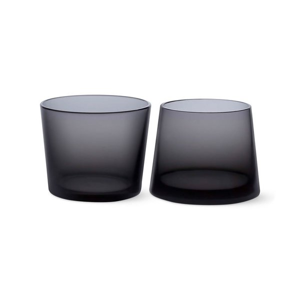MoMA Black Whiskey Glass Set