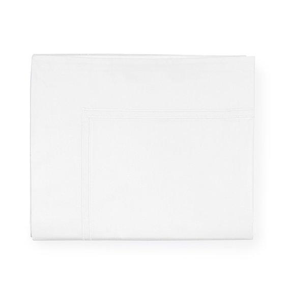 Sferra Grande Hotel King Size Sheet Set – White/White