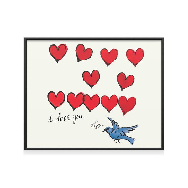 I Love You So Framed Print by Andy Warhol