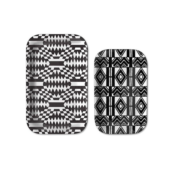 notNeutral Cooper Hewitt Black & White Tray Set