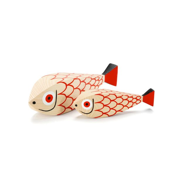 Vitra Wooden Doll, Mother Fish and Child