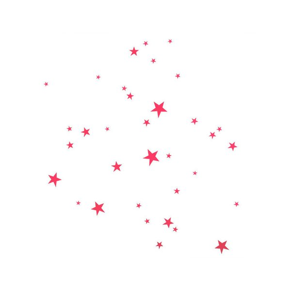 Ferm Living Wall Stickers – Pink Stars