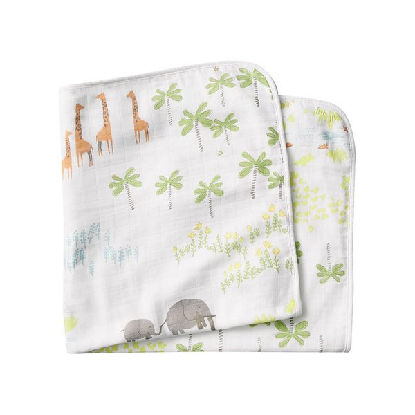 Coyuchi Jungle Print Hooded Towel