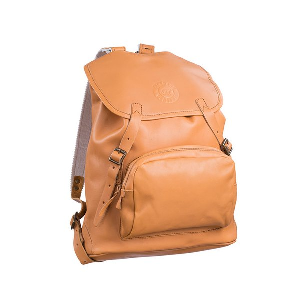 Beckmann of Norway Leather Backpack, Natural