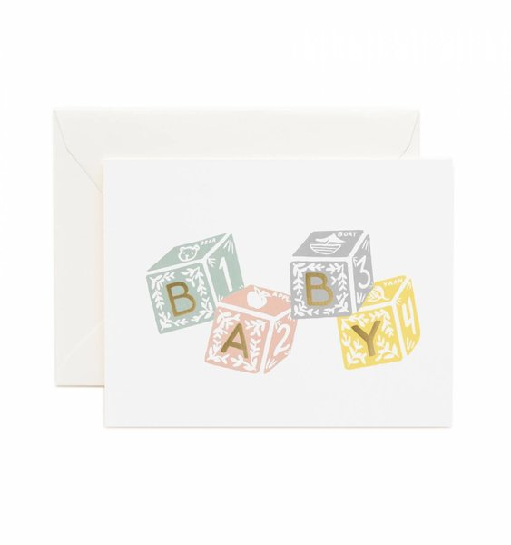 Baby Blocks Greeting Card by Rifle Paper Co.