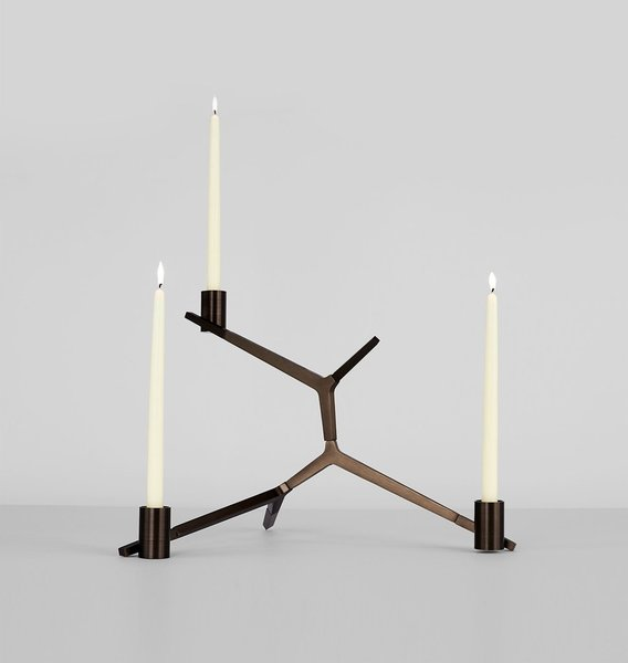 Roll & Hill Agnes Table Candelabra –  3 Candles
