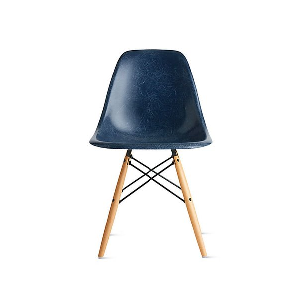 Eames Molded Fiberglass Side Chair with Dowel Base
