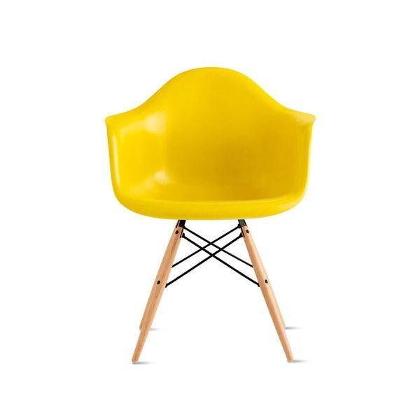 Eames Molded Fiberglass Armchair with Dowel Base