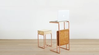 Dwell Made Presents: DIY Mini Copper Desk With Leather Sling - Photo 13 of 14 -