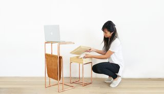 Dwell Made Presents: DIY Mini Copper Desk With Leather Sling - Photo 14 of 14 -