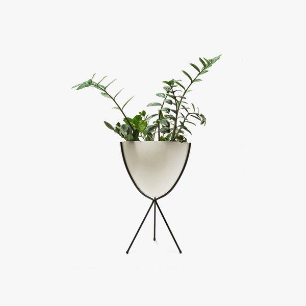 Hip Haven Medium Black Stand – White Bowl