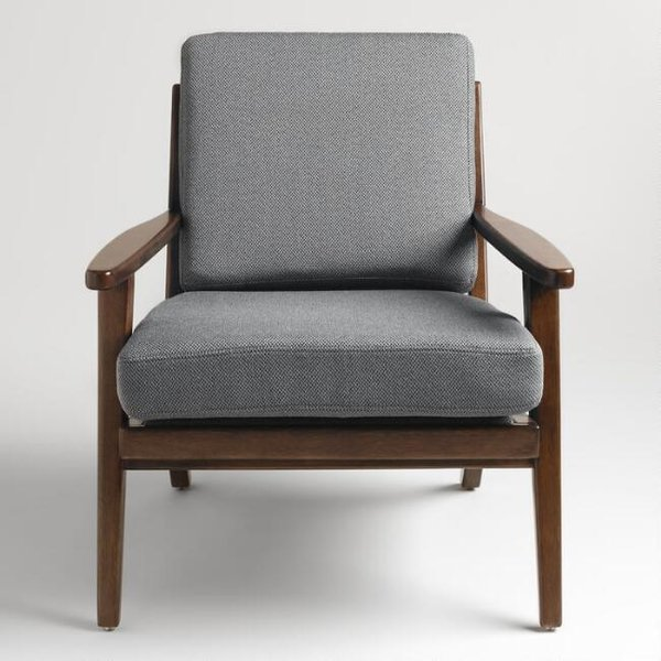 World Market Slate Gray Xander Armchair