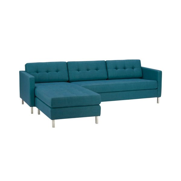 CB2 Ditto II Peacock Sectional Sofa
