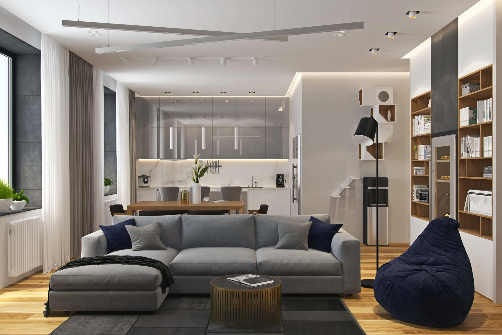 Contemporary apartment in moscow by geometrium dwell for Save room net