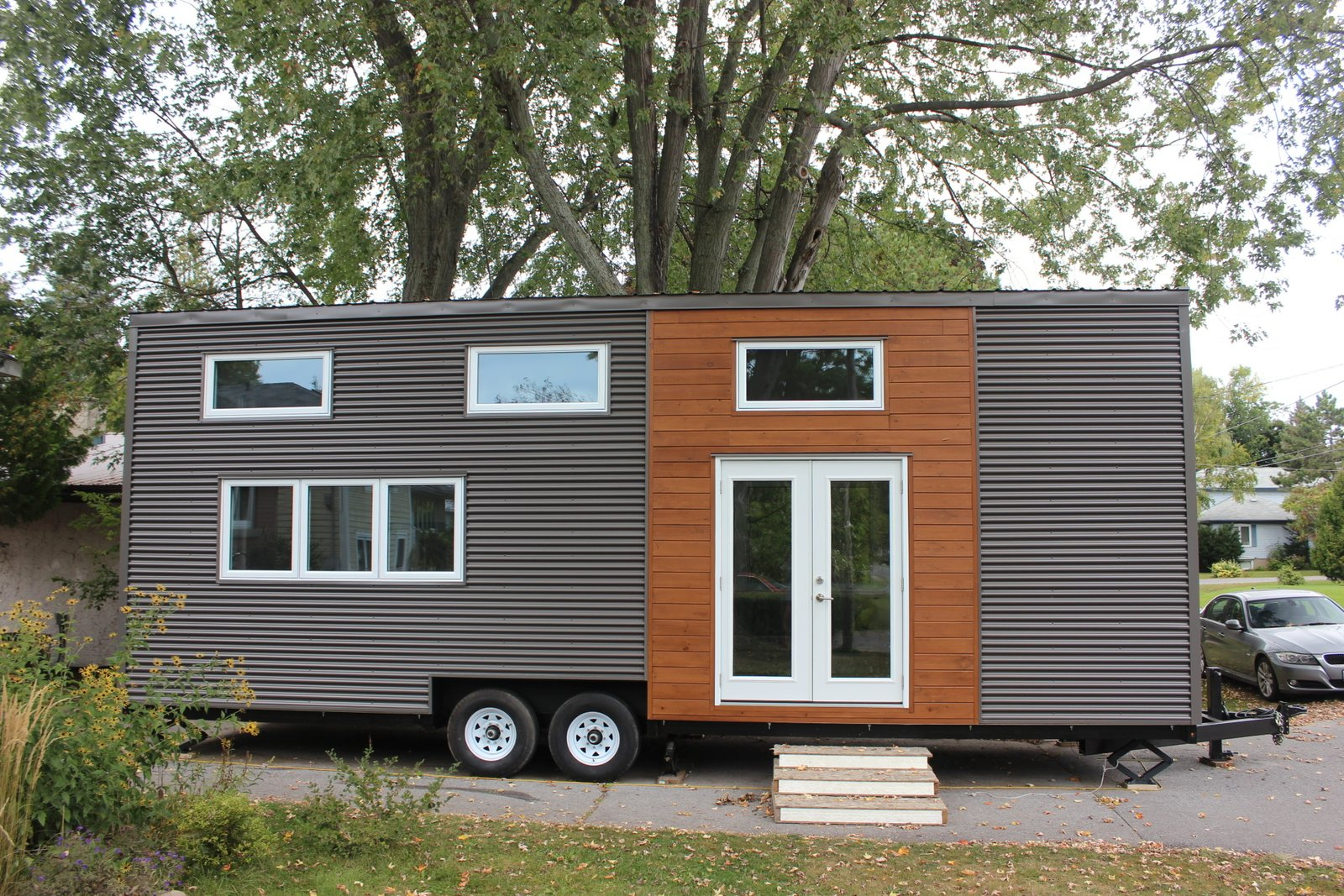 Modern tiny house on wheels modern home in kingston Modern tiny homes on wheels