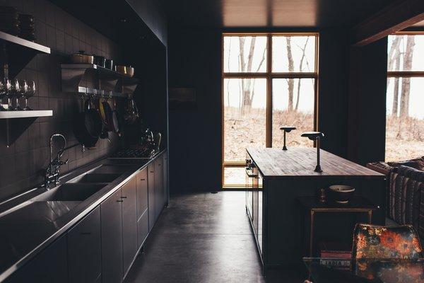 Kitchen and kitchen island area.