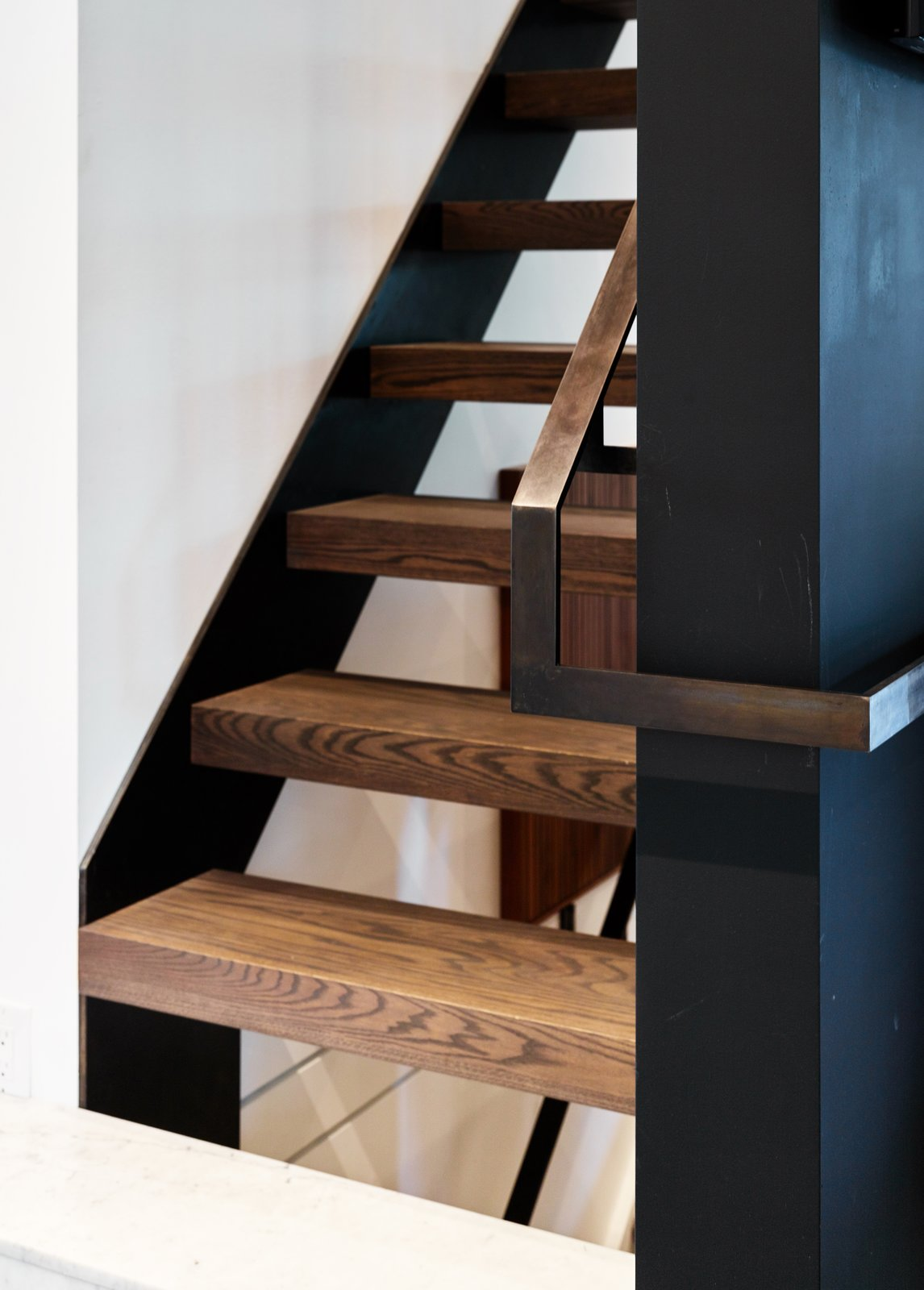 Tagged: Staircase, Wood Tread, and Metal Railing.  Hibou House by Barbora Vokac Taylor Architect