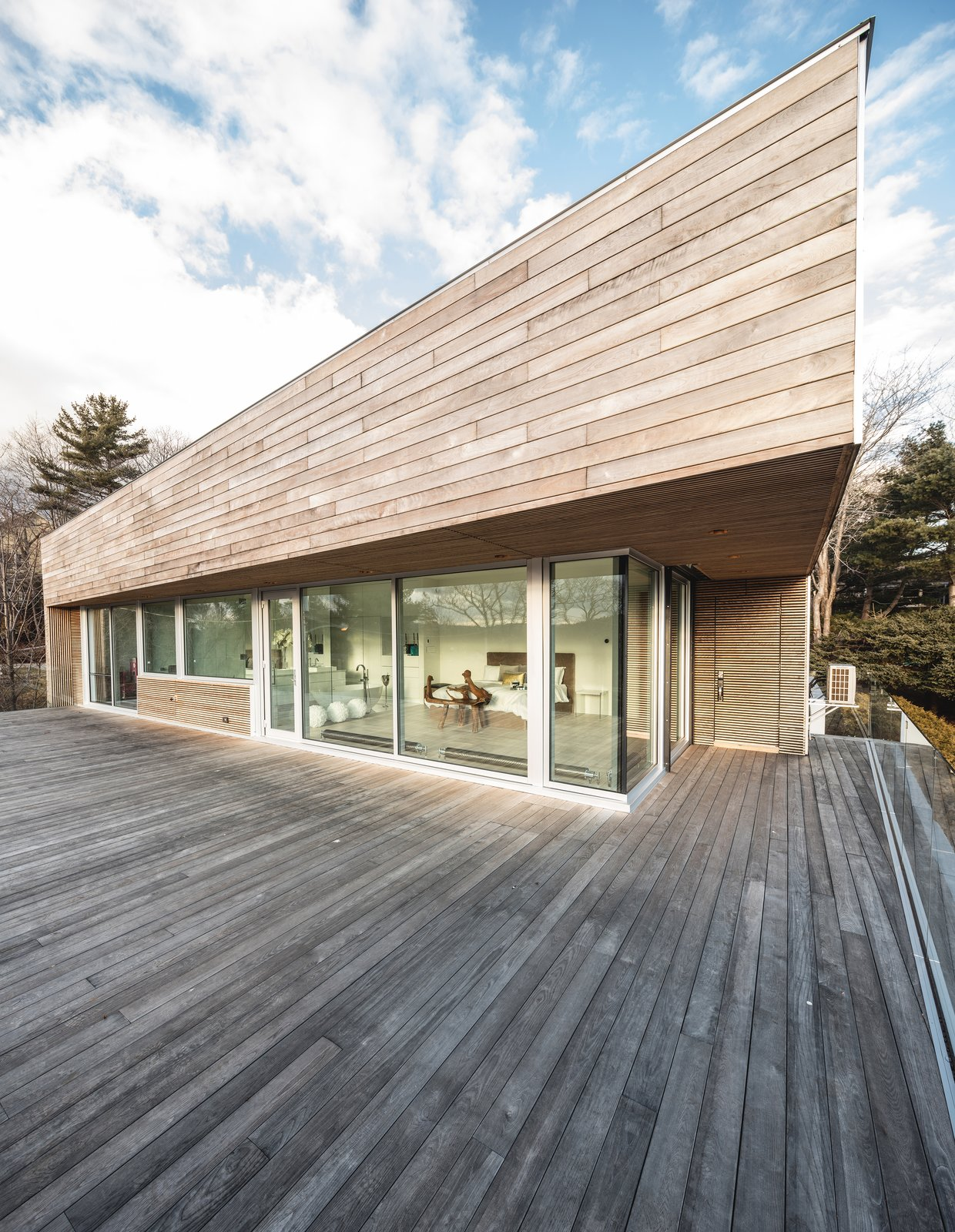 Rooftop Patio Tagged: Exterior, House, Wood Siding Material, and Flat RoofLine.  Best Photos from Webster Terrace