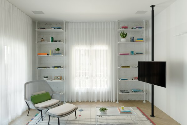 living room +library