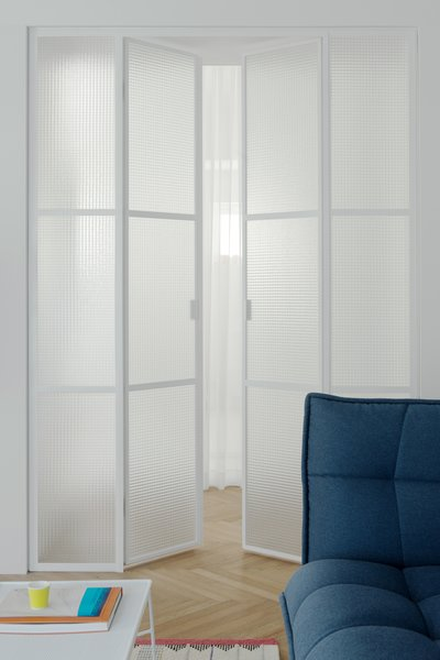safety-wired glass doors