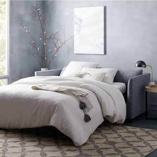 Sofa Bed Versus Wall Bed: What's Best For Your Small Space? - Photo 5 of 10 - Shelter Queen Sleeper Sofa from West Elm