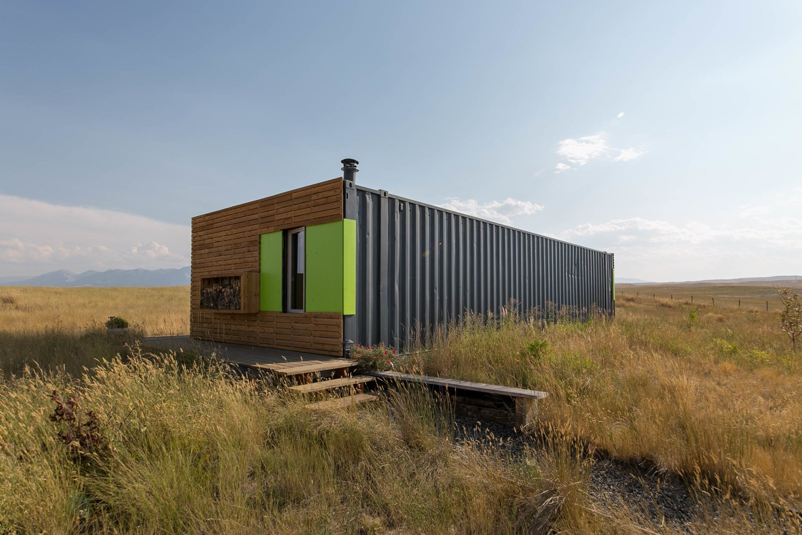 This awesome shipping container home can be yours for for Storage container home builders