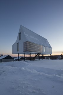 A Minimalist Winter Chalet Stands Tall on Stilts - Photo 5 of 6 -